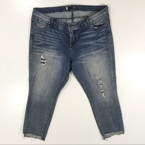 Kut from the Kloth Reese Ankle straight leg jeans